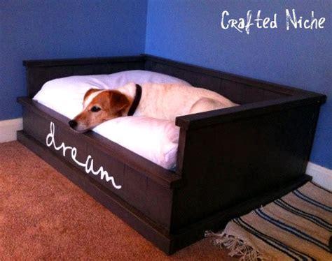homemade dog bed diy dog bed frame petdiys com
