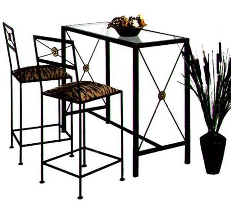 Wrought Iron Bar Table And Stools by Wrought Iron Bar Stool Tables