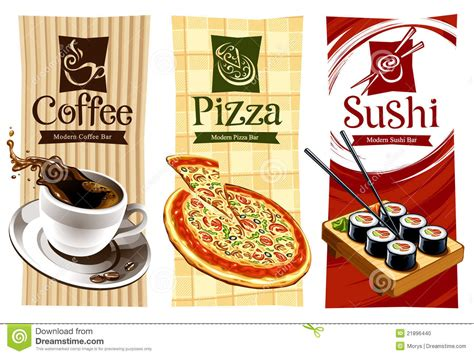 Template Designs Of Food Banners Stock Vector Illustration Of Cafe Shop 21896440 Food Banner Design Template Free
