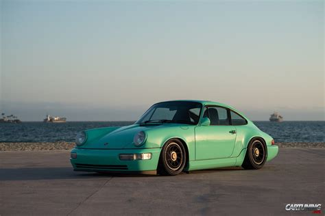 stanced porsche stanced porsche 911 964 187 cartuning best car tuning
