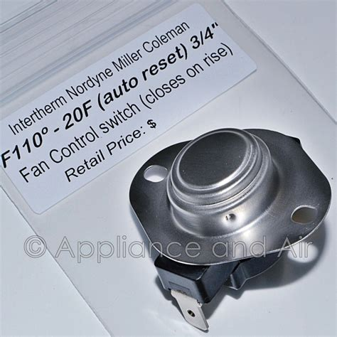Switch Fan Mobil intertherm 626236 626339 fan limit switch mobile home furnace f110 inst ebay