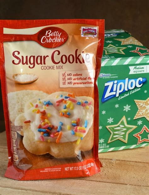 Blink Mix Square peppermint glaze sugar cookies