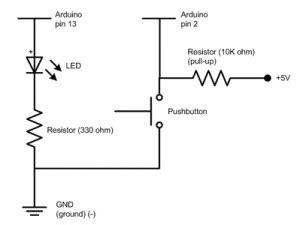 jaycar resistor pull up tutorial arduino push buttons famosa studio page