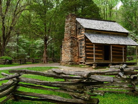 Johns Cabin by A Guide To The Great Smoky Mountains National Park