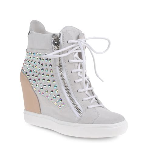 white high top sneakers for giuseppe zanotti high top sneakers in white suede