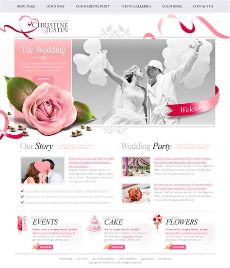 The Wedding Psd Website Free Template Download Download Psd Wedding Website Templates