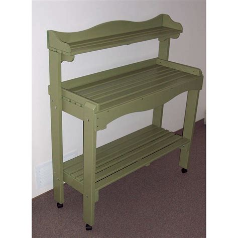 potting bench on wheels prairie leisure backyard buffet or gardeners workbench with wheels potting benches