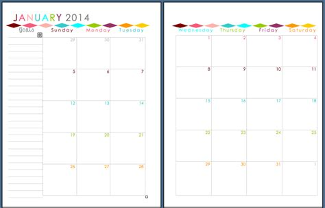 free printable month planner 2014 sherbert cafe 2014 planner printable