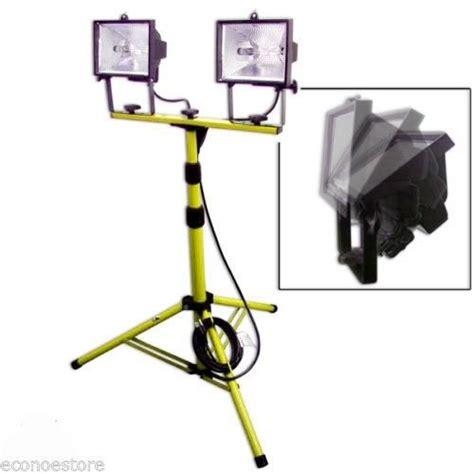 arlec 1000w halogen worklight with tripod 1000w halogen shop work light w telescoping stand tripod base new ebay