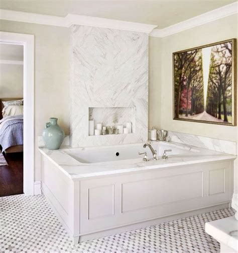 bathtub panel surrounds wood panel marble tub surround bathrooms pinterest