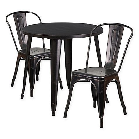 30 inch table and chairs flash furniture 3 30 inch metal table and