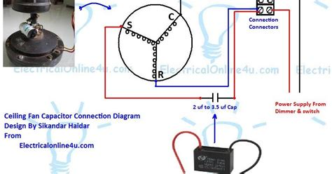function of capacitor in table fan ceiling fan capacitor wiring connection diagram electrical 4u