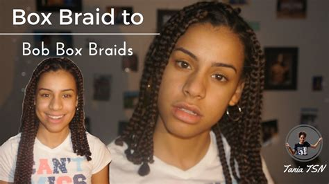 cutting box braids into bob cutting box braids into bob box braids taniatsn youtube