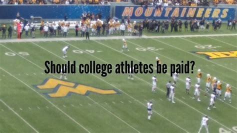 Paid To Play should college athletes be paid to play