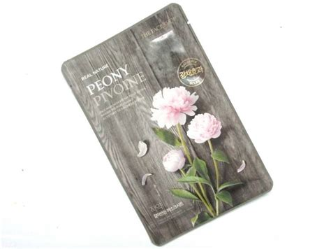 The Shop Real Nature Mask the shop real nature peony mask review