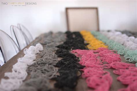 diy yarn diy yarn wall two thirty five designs