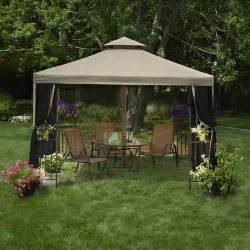 patio gazebo canopy mainstays laketon patio gazebo 10 x 10 walmart