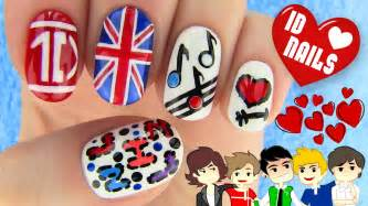 1d nails one direction nail art youtube