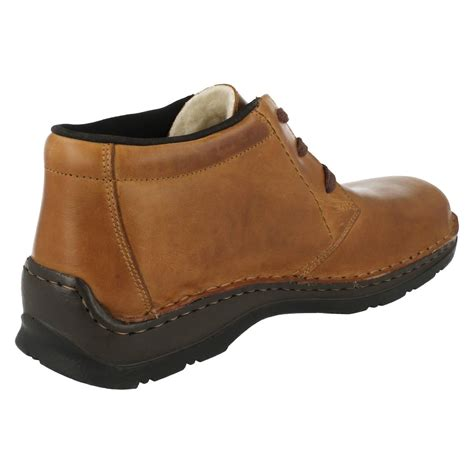 mens rieker all weather wide ankle boots 05344 ebay