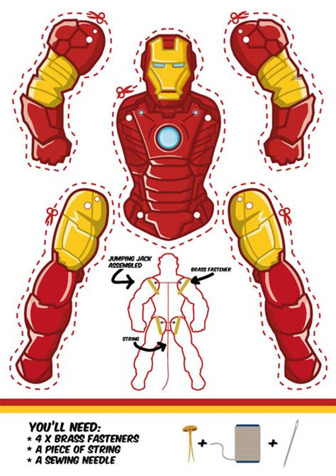 printable pictures jumping jacks iron man jumping jack template another cool superhero
