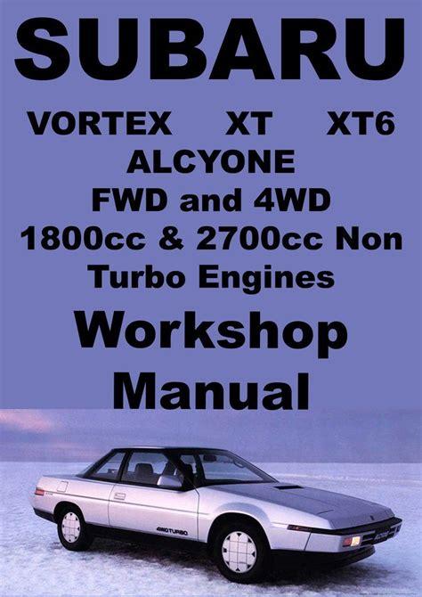 electric and cars manual 1991 subaru xt electronic toll collection subaru vortex alcyone xt xt6 1985 1991 workshop manual subaru subaru cars and car manuals