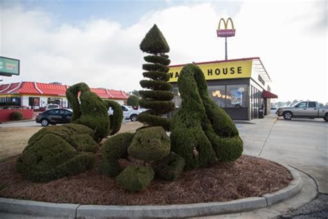waffle house clinton sc the pearl fryar topiary garden charlotte magazine march 2015 charlotte nc