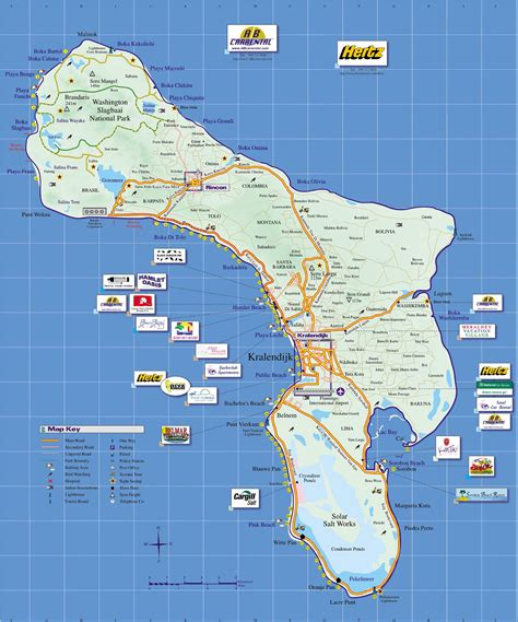 bonaire map bonaire island tourist map bonaire mappery