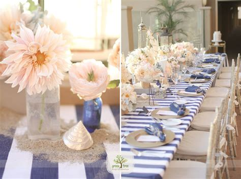 nautical wedding pink and navy