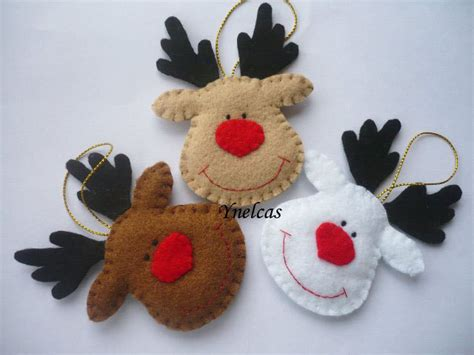 reindeer ornaments rudolph the nosed reindeer felt ornament