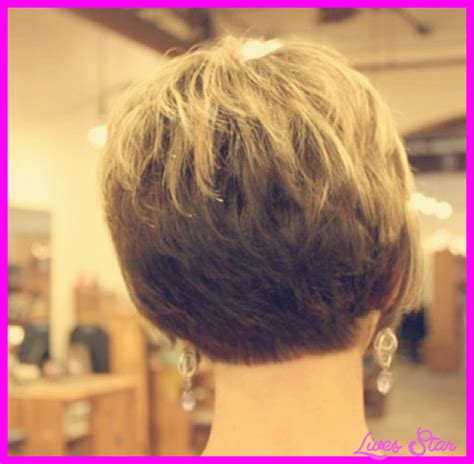 picture front and back views of the stacked bob hairstyles back view of short hairstyles stacked livesstar com