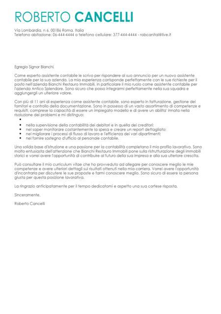 lettere di autocandidatura esempio lettera di presentazione modello lettera di
