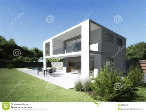 Mountain Style House Plans modern villa with terrace and garden royalty free stock