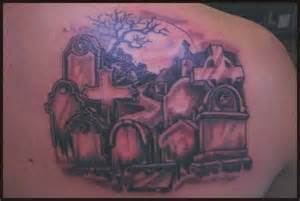 104 tattoos awesome graveyard tattoo designs cemetery