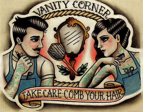 parlor tattoo prints commission business logo rights belong to vanity corner