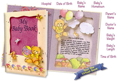 personalized baby books with pictures your child s birth story with these personalized