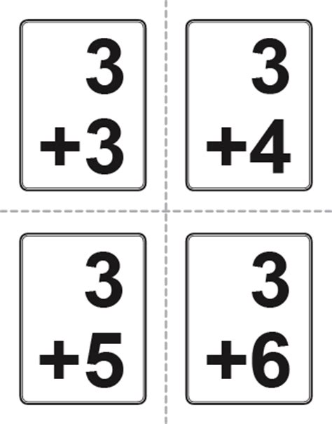 printable math flashcards addition addition flash cards
