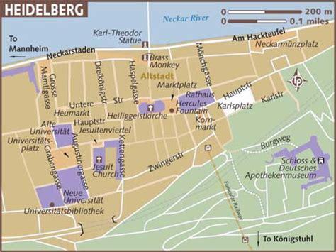 map heidelberg germany map of heidelberg