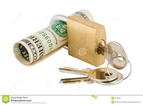 Keep Your Money Lock And Key Luellas Key Chain Purse by Save Your Money Stock Image Image 4196351