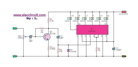 led battery indicator circuit 4 led voltage indicator circuits eleccircuit
