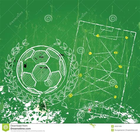 football design template soccer football design template stock vector image