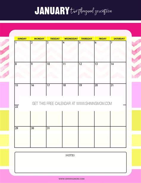 printable calendar mom free printable january 2017 calendar set