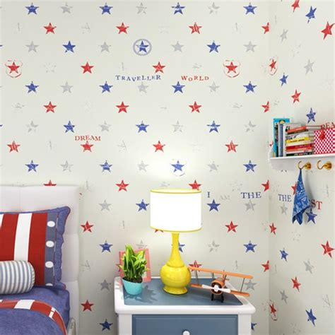 toddler bedroom wallpaper aliexpress com buy classic star boys bedroom wallpaper