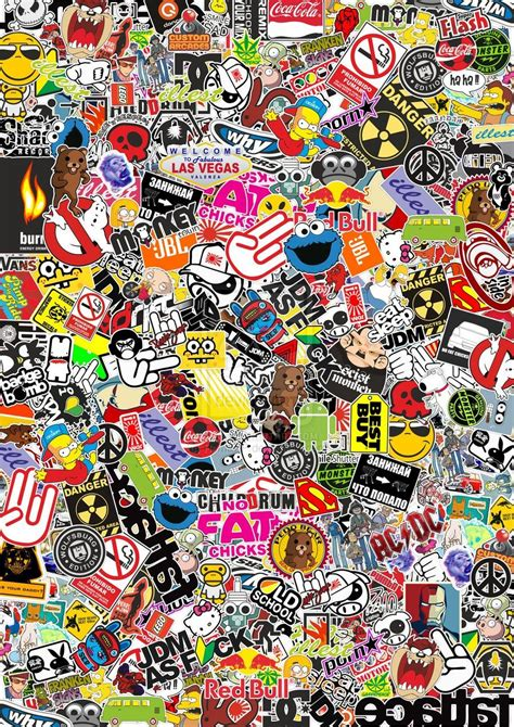 sticker wallpaper sticker bomb sticker bomb pinterest sticker bomb