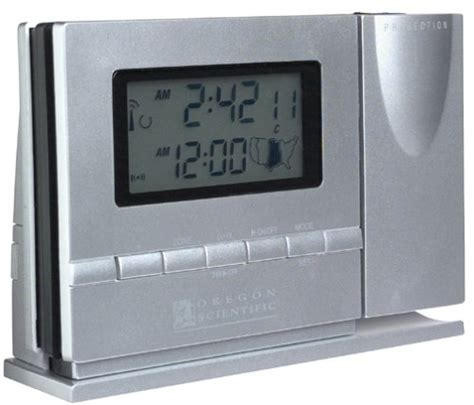 oregon scientific rm318pa exactset projection clock silver for 22 99 atomic clock with