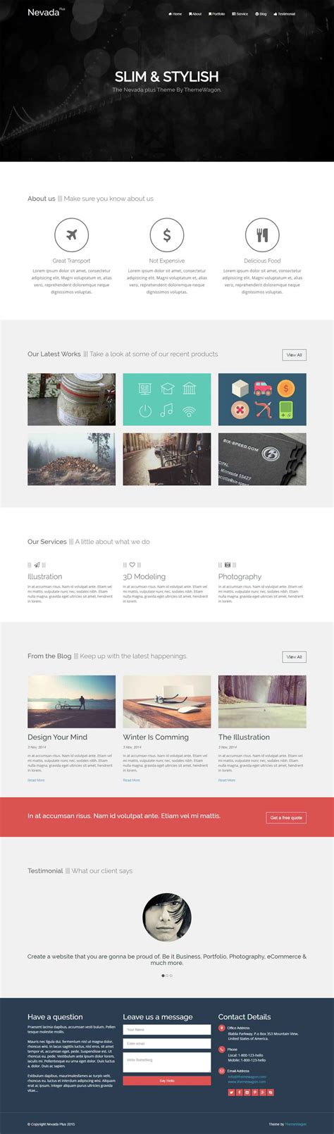 templates bootstrap agency nevada plus pro responsive html5 bootstrap agency template