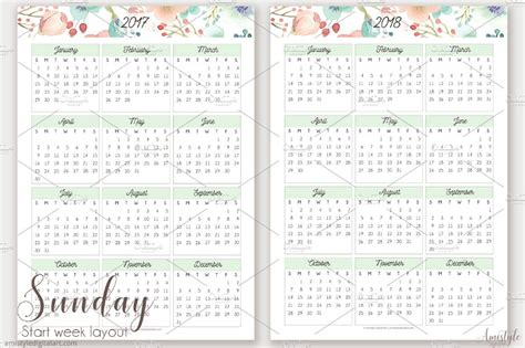 printable calendar 2018 design 10 printable 2018 wall desk pocket calendar designs