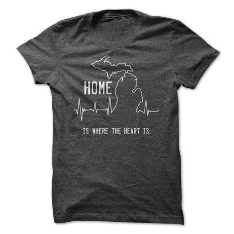 in the house in a heartbeat michigan home heartbeat t shirt hoodie