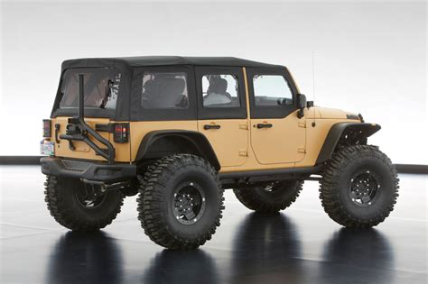 sand jeep wrangler jeep 174 and mopar reveal six new concept vehicles cartype