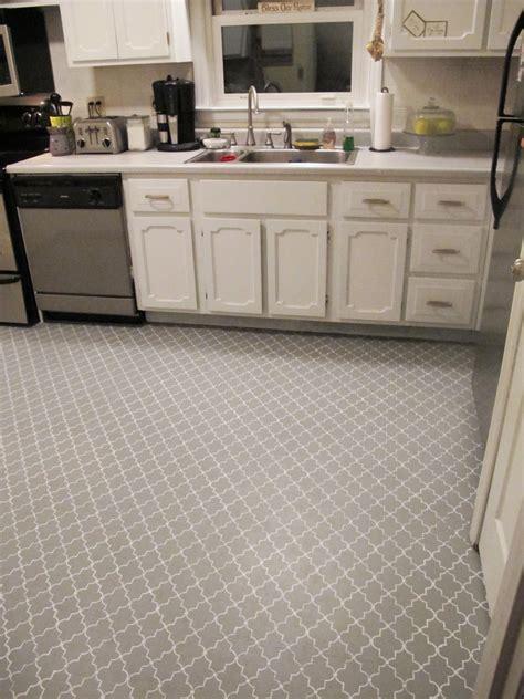 stenciled kitchen subfloor   domestics
