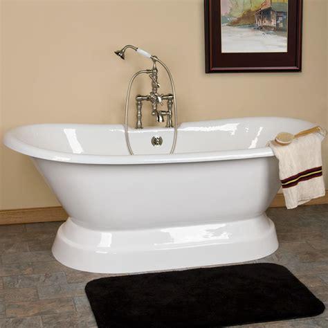 double bathtub 71 quot bali acrylic double ended pedestal tub bathroom